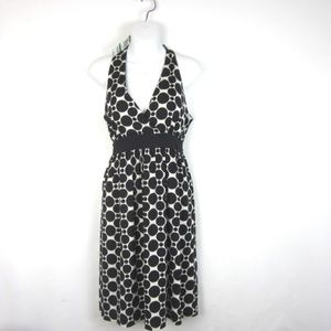 INC Polka Dot Dress L Black White NEW Halter Look